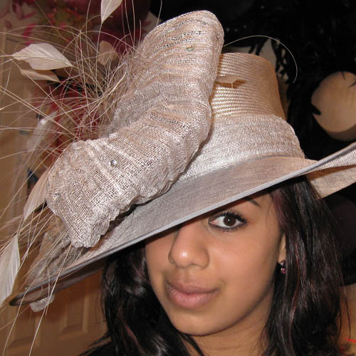 Silver Mother Of The Bride Hat SN222